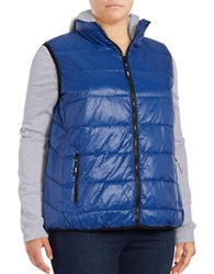 Marc New York Mock Layer Puffer Vest Poseidon