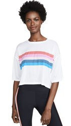 Spiritual Gangster Rainbow Active Sessions Tee White