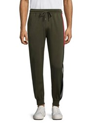 Bally Striped Ribbed Sweatpants Evergreen