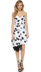 Marc By Marc Jacobs Blurred Dot Stretch Poplin Dress White Multi