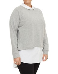 Junarose Sienna Layered Blouse Medium Grey