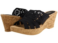 Spring Step Dora Black Women's Wedge Shoes
