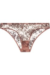 Myla Provence Street Embroidered Tulle Briefs Bronze
