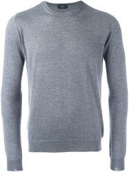 Zanone Crew Neck Jumper Grey
