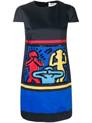 Alice Olivia Sequin Embellished Shift Dress Blue