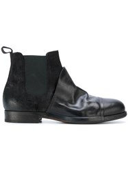 Ink Contrast Chelsea Boots Calf Leather Leather Rubber Black