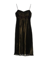 Carlo Pignatelli Knee Length Dresses Brown