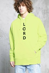 Forever 21 Lord Graphic Hoodie Yellow Black