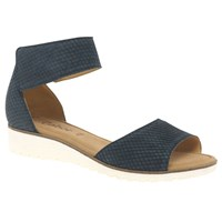 Gabor Penny Wedge Heeled Sandals Night Blue