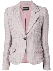 Emporio Armani Jacquard Blazer Pink And Purple