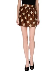 Dandg D And G Mini Skirts Brown