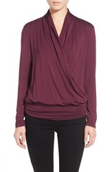 Women's Amour Vert 'Angela' Long Sleeve Wrap Front Top