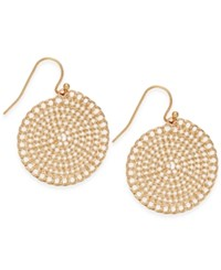 Inc International Concepts Gold Tone Coiled Disc Drop Earrings Only At Macy's