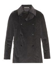 Bottega Veneta Cotton Corduroy Pea Coat
