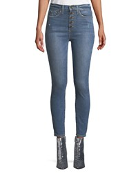 Alice Olivia Good High Rise Cropped Skinny Jeans Medium Blue