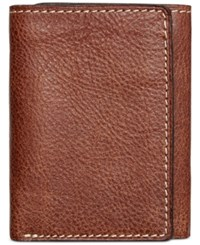 Patricia Nash Men's Tuscan Leather Trifold Rust