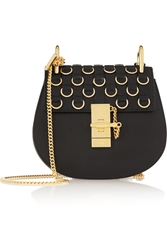 Chloe Drew Small Embellished Leather Shoulder Bag