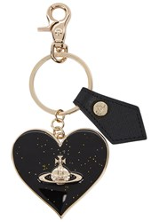 Vivienne Westwood Heart And Orb Keyring Black