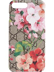 Gucci Gg Blooms Iphone 8 Plus Case Brown