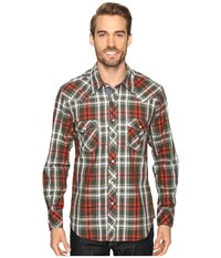 Rock And Roll Cowboy Long Sleeve Snap B2s8410 Rust Men's Clothing Red