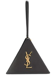 Saint Laurent Monogram Triangle Bag Black