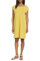 Eileen Fisher Women's Hemp And Organic Cotton Square Neck Shift Dress Papyrus