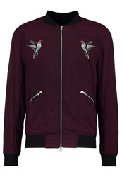 Religion Humming Bomber Jacket Oxblood Lilac