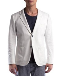 Civil Society Ralphy Classic Fit Knit Blazer White