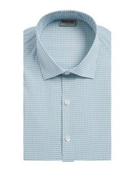 Kenneth Cole Reaction Check Dress Shirt Peacock