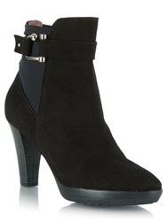 Daniel Joyfully Buckled Ankle Boots Black