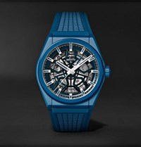 Zenith Defy Classic Automatic 41Mm Ceramic And Rubber Watch Blue
