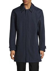 Cole Haan Topper Solid Rain Coat Navy