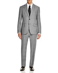Hardy Amies Glen Check Brinsley Slim Fit Suit Charcoal