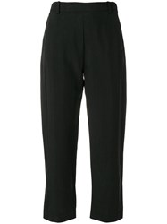 Ilaria Nistri Casual Cropped Trousers Black