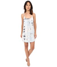 Gypsy05 Spaghetti Strap Cross Back Mini Dress Cloud Women's Dress White