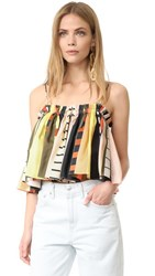 Apiece Apart Sanna Cropped Camisole Daylight Abstract Stripes