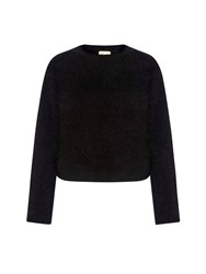 Yumi Fluffy Relaxed Fit Jumper Black