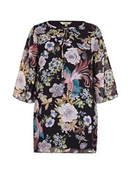Yumi Curves Floral Print Smock Dress Multi Coloured Multi Coloured
