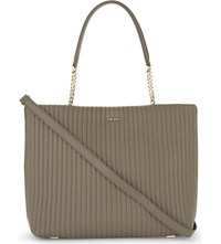 Dkny Gansevoort Quilted Leather Shopper Clay