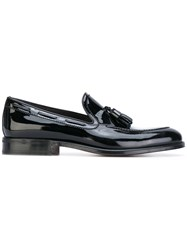 Carvil Charron Loafers Men Leather Patent Leather 42 Black