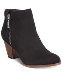 Styleandco. Style Co. Jamila Zip Booties Only At Macy's Women's Shoes Black Microfiber