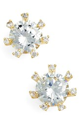 Women's Cz By Kenneth Jay Lane Embellished Prong Cubic Zirconia Stud Earrings