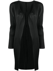 Issey Miyake Pleats Please By Micro Pleated Coat Black