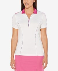 Callaway Print Trim Golf Polo Bright White