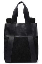 Proenza Schouler Woman Convertible Suede Paneled Leather Backpack Black