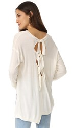 Wilt Slouchy Shifted Tie Back Sweater White