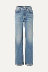 Re Done 90S High Rise Straight Leg Jeans Mid Denim