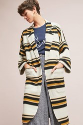 The Odells Striped Cocoon Jacket Black Motif