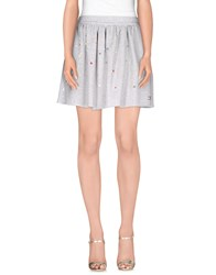 Elisabetta Franchi Jeans Skirts Mini Skirts Women Light Grey