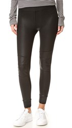 David Lerner Quilted Cuffed Leggings Classic Black